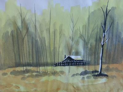 水彩风景画临摹步骤