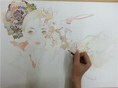 成都手绘培训——水彩插画