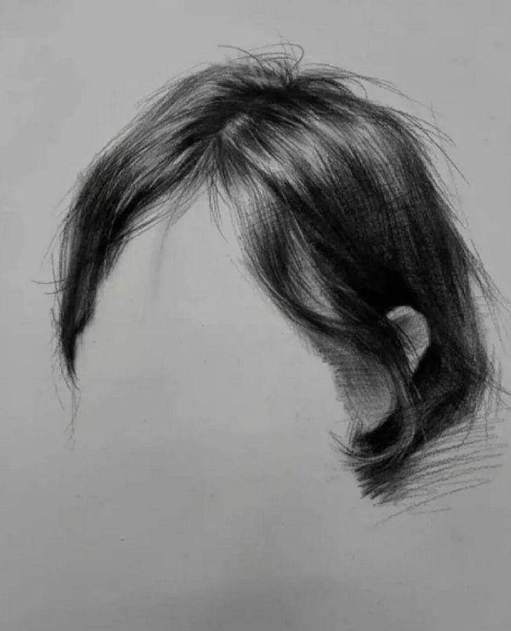 素描头发的画法