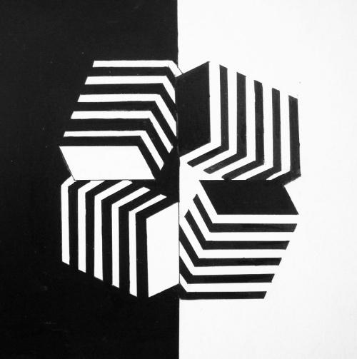 手绘平面特异黑白图片