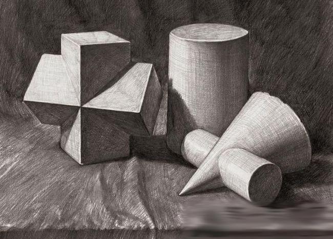 初学素描几何体中常见的几个问题